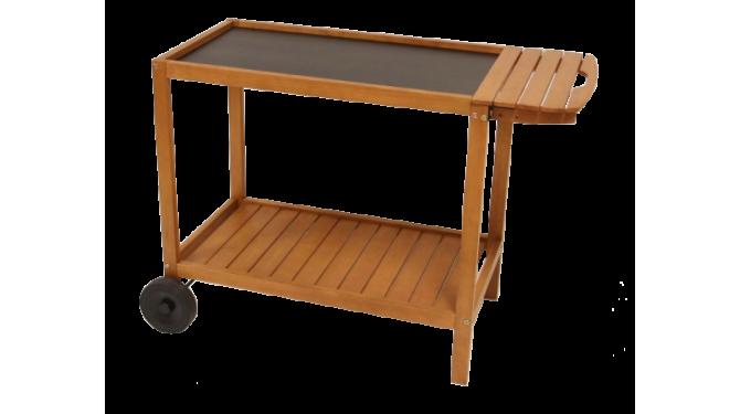chariot plancha en bois avec plateau taille xl verycook. Black Bedroom Furniture Sets. Home Design Ideas
