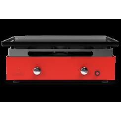 Plancha gaz acier émaillé rouge