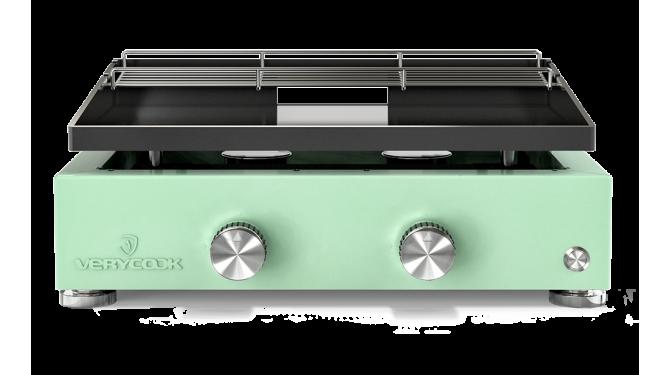 Plancha gaz émaillé vert 1