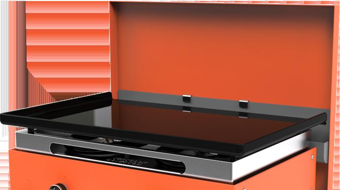 Couvercle de protection pour plancha orange 2