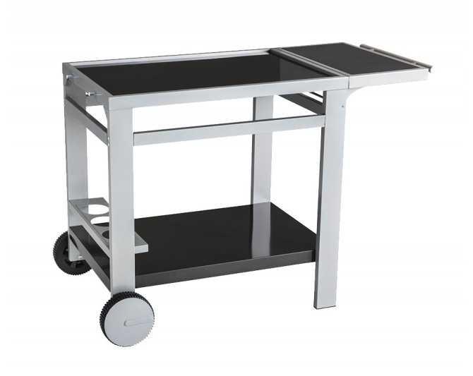 Chariot en métal et bois avec plateau