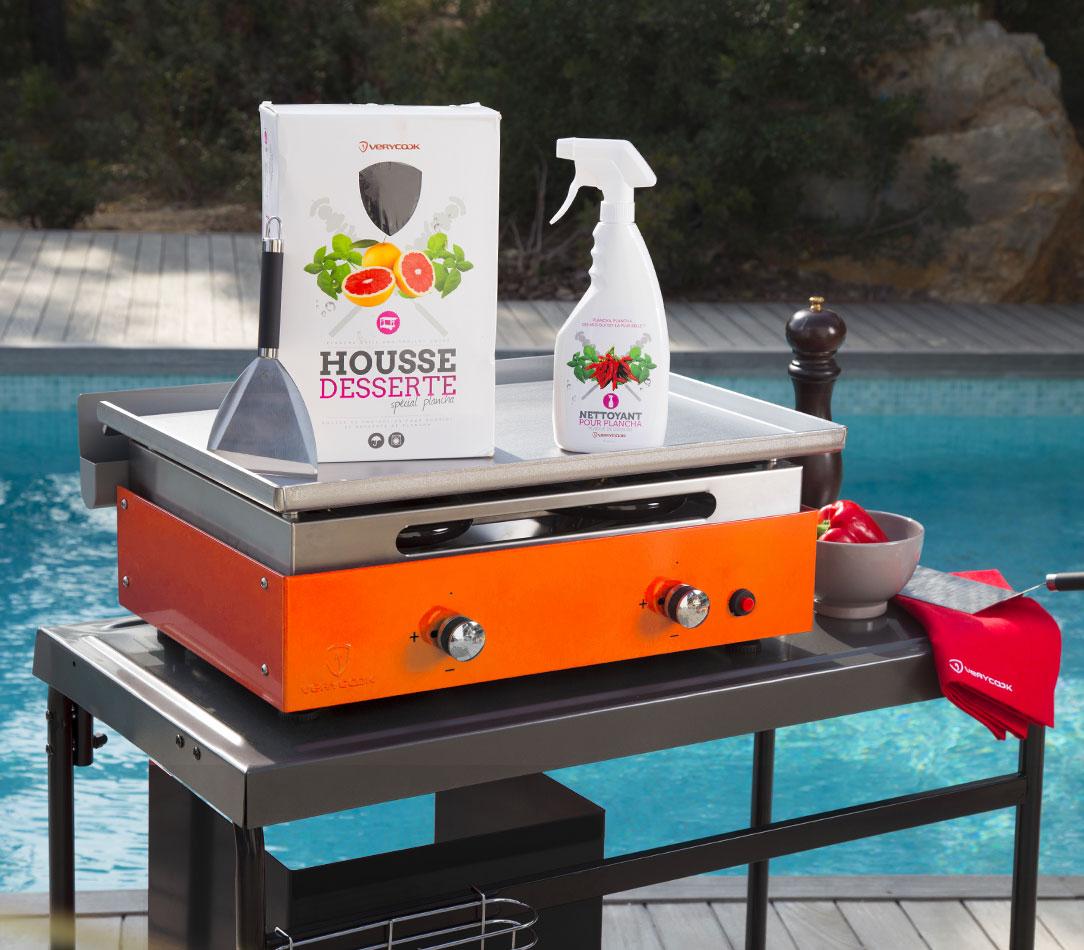 Housse Pour Plancha Tonio plancha gaz inox massif 2 feux évolutive ☀ verycook