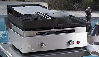 combine plancha barbecue fifty fifty inox
