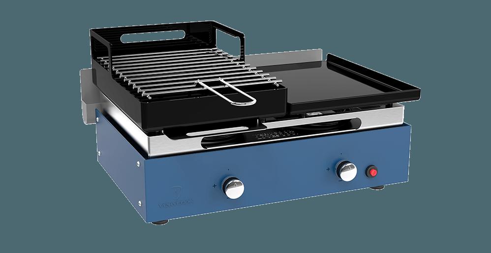 barbecue plancha au gaz et au charbon de bois verycook. Black Bedroom Furniture Sets. Home Design Ideas